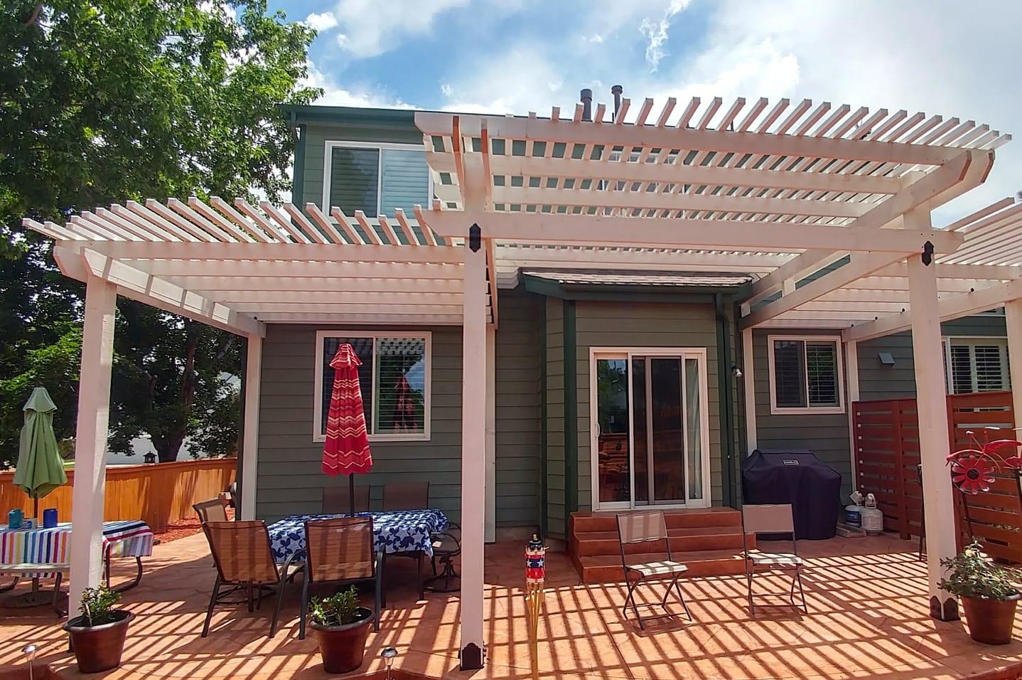 Alumashade DIY Lattice Patio Cover Backyard Deck